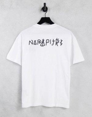 Белая футболка с принтом на спине Yoik-Белый Napapijri