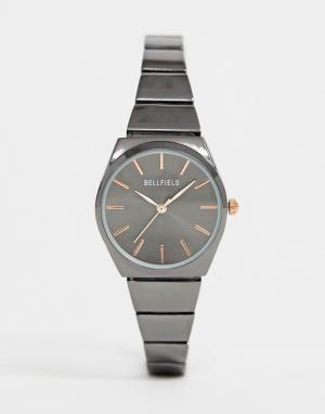 Женские часы с узким браслетом -Серый Bellfield
