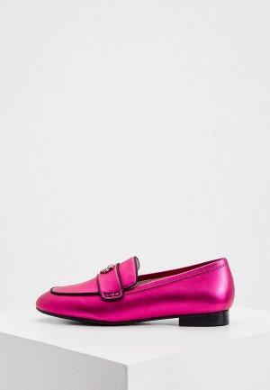 Лоферы Karl Lagerfeld. Цвет: розовый