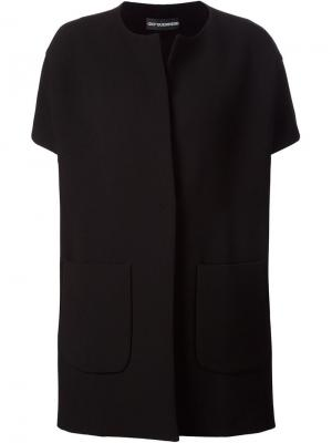 Пальто с короткими рукавами Gio Guerreri Gio'. Цвет: чёрный