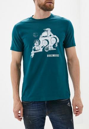 Футболка Bikkembergs. Цвет: зеленый