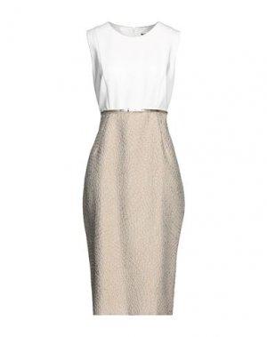 Платье миди MAX MARA. Цвет: бежевый