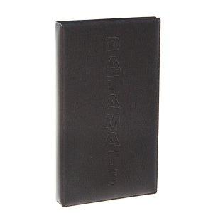 Визитница на 60 карт, 3 карты 1 листе, обложка пвх, коричневая/чёрная, микс, Calligrata