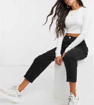 Черные брюки чинос для миниатюрных в стиле «песочные часы» ASOS DESIGN Petite-Черный Petite