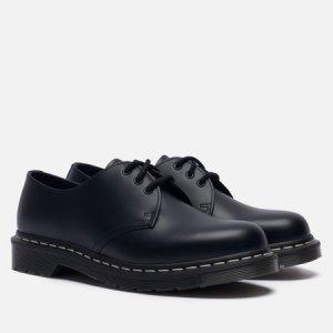 Ботинки 1461 White Stitch Dr. Martens. Цвет: чёрный