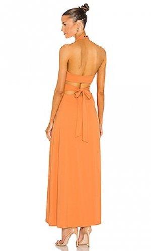 Платье миди Susana Monaco. Цвет: оранжевый