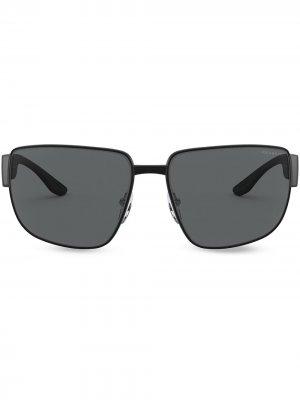 Солнцезащитные линзы Linea Rossa Eyewear Prada. Цвет: черный