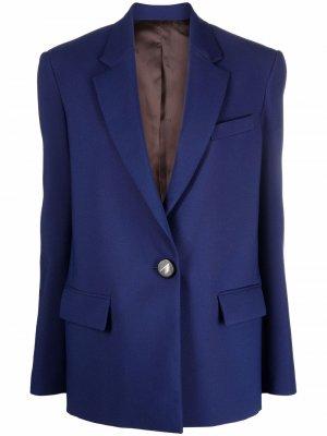 Single-breasted tailored blazer The Attico. Цвет: синий