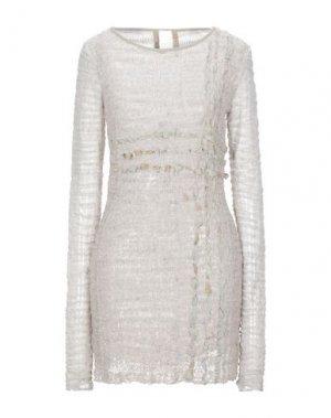 Короткое платье 10SEI0OTTO. Цвет: светло-серый