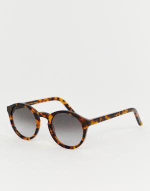 Солнцезащитные очки в круглой черепаховой оправе Barstow-Коричневый Monokel Eyewear