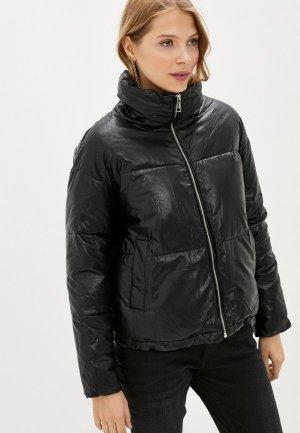 Куртка кожаная Fadjo. Цвет: черный
