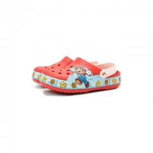 Сабо Super Mario Crocs. Цвет: красный