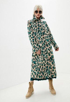 Пальто MM6 Maison Margiela. Цвет: бежевый