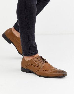 Светло-коричневые броги -Светло-коричневый Burton Menswear