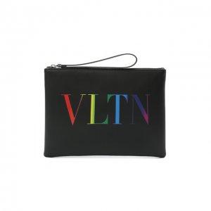 Кожаный футляр для документов Garavani Valentino. Цвет: чёрный