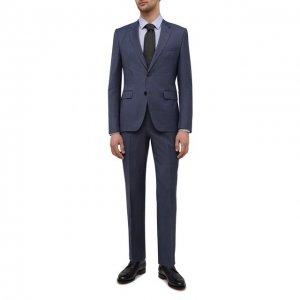 Шерстяной костюм HUGO. Цвет: синий