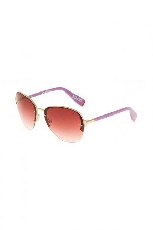 Очки солнцезащитные Enni Marco. Цвет: золотой, сиреневый