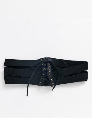 Черный эластичный пояс-корсет ASOS DESIGN
