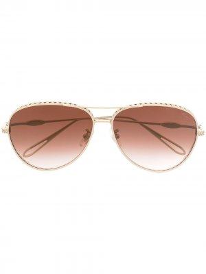 Солнцезащитные очки-авиаторы Chopard Eyewear. Цвет: золотистый