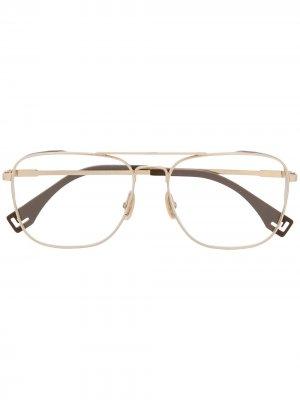 Очки-авиаторы Fendi Eyewear. Цвет: золотистый