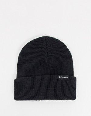 Черная шапка-бини с отворотом -Черный Columbia