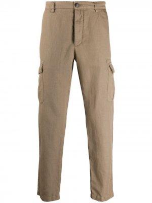 Классические брюки карго Eleventy. Цвет: нейтральные цвета