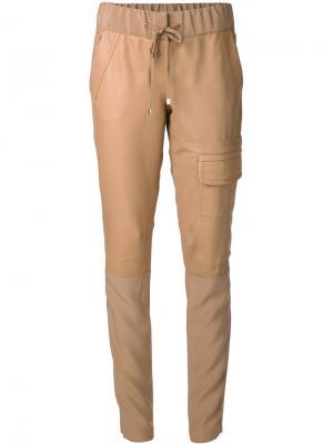 Узкие брюки слим Kaufmanfranco. Цвет: коричневый