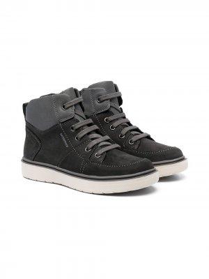 Ботинки на шнуровке Geox Kids. Цвет: серый