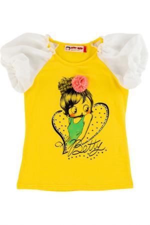 Футболка Betty Boop. Цвет: желтый