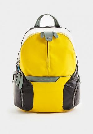 Рюкзак Piquadro с отсеком для теннисных ракеток. Цвет: разноцветный