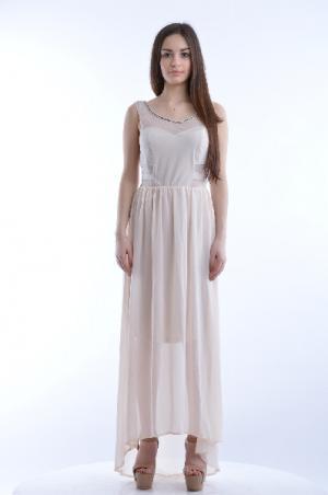 Платье EXTASY. Цвет: бежевый