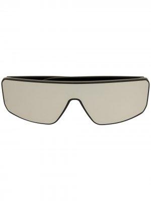 Солнцезащитные очки с зеркальными линзами Rick Owens. Цвет: черный
