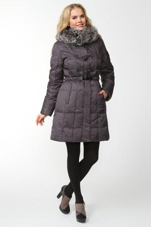 Пальто CITY. Цвет: фиолетовый