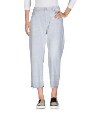 Джинсовые брюки-капри CITIZENS OF HUMANITY. Цвет: светло-серый