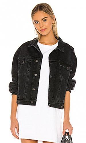Джинсовая куртка charli AGOLDE. Цвет: none