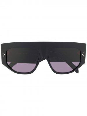 Массивные солнцезащитные очки с заклепками Celine Eyewear. Цвет: черный