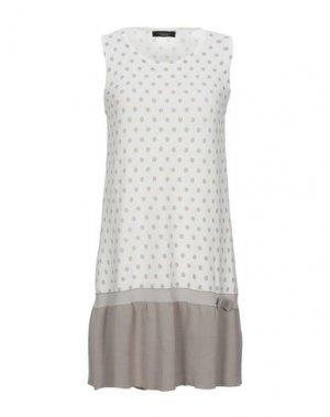 Короткое платье ALJSSA. Цвет: бежевый