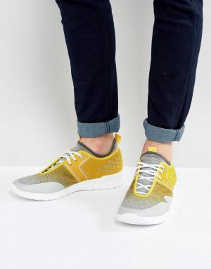 Желтые кроссовки для бега Green by Hugo Boss. Цвет: желтый