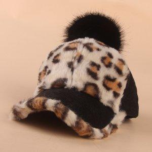 Детский Бейсболка с леопардовым принтом SHEIN. Цвет: белый