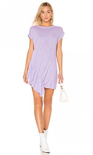 Платье-рубашка pacific ave Current/Elliott. Цвет: фиолетовый