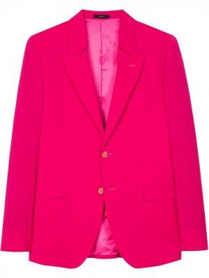 Однобортный пиджак PAUL SMITH. Цвет: розовый