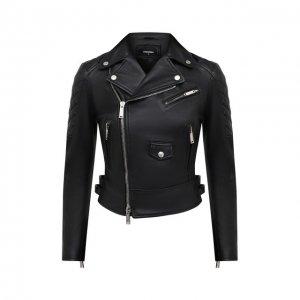 Кожаная куртка Dsquared2. Цвет: чёрный
