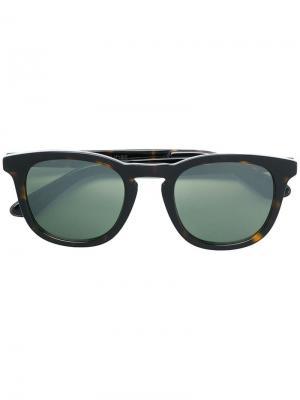Солнцезащитные очки Ben 50 с эффектом черепашьего панциря Jimmy Choo Eyewear. Цвет: коричневый