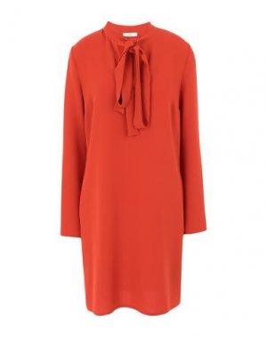 Короткое платье SUOLI. Цвет: оранжевый