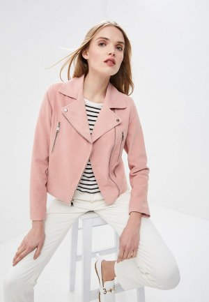 Куртка кожаная Lauren Ralph. Цвет: розовый