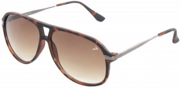 Солнцезащитные очки Demix. Цвет: коричневый