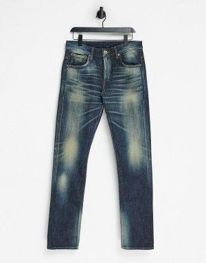 Узкие джинсы стрейч Japan-Голубой Edwin