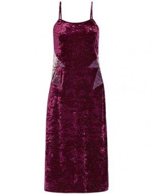 Платье длиной 3/4 ANNA SUI. Цвет: пурпурный