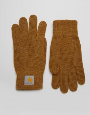 Перчатки WIP Carhartt. Цвет: коричневый