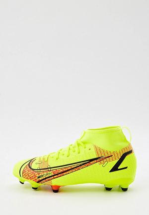 Бутсы Nike JR SUPERFLY 8 ACADEMY FG/MG. Цвет: зеленый